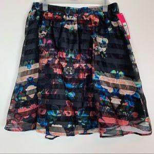 NWT Xhilaration Floral A-Line Skirt